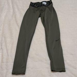 Nike Men Pro Compression Tights Green Legging Pant